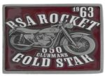 BSA Rocket Gold Star (red) Belt Buckle with display stand (MC1)